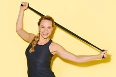 Get strong arms with elastic bands - Motion - Band Yoga Fitness, Fitness Tips, Health Fitness, Fitness Routines, Best Weight Loss, Weight Loss Tips, Fun Workouts, At Home Workouts, Wisdom Teeth Removal