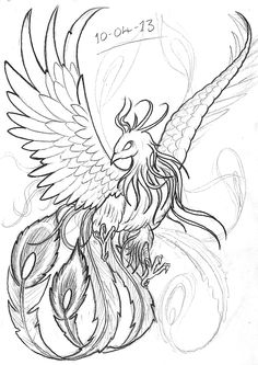 japanese phoenix drawing - Google Search