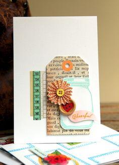 AC Card - Embossed Cheerful-American Crafts blog-made by Piradee Talvanna