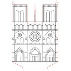 Notre-Dame de Paris 3d illusion lamp plan vector file for CNC - 3bee-studio