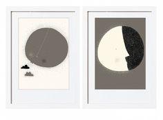 Měsíc, slunce - plakaty - shop-janakudrnova