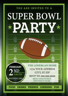 football party invitation - printable - chalkboard, birthday party, Party invitations
