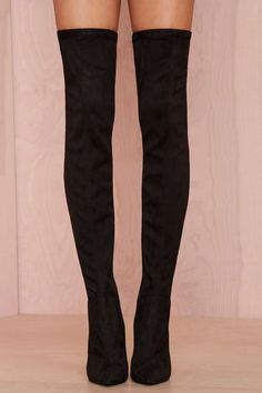 Jeffrey Campbell Superfreak Leather Thigh High Boot