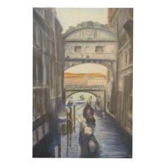 #beauty - #Venice Canals with Gondolas Wood Wall Art