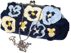"evening chrocheted bag ""Pansy"" by Gala Moiseeva"
