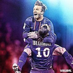 David #Beckham and Zlatan #Ibrahimovic!
