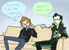 Loki and the Loon --Lol.  Loki/TomH crossover comic with, ah, Stitch. Love it.  ~ kp
