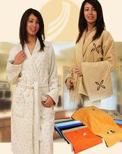 Womens Bathrobe Terry Towelling Dressing Gown Housecoat Collar ...