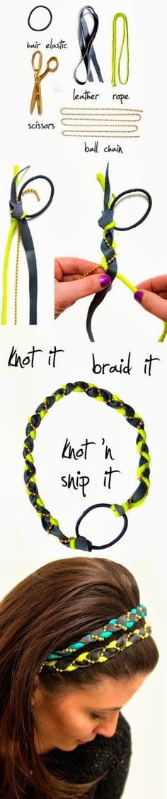 DIY Quick Easy Braided Headband