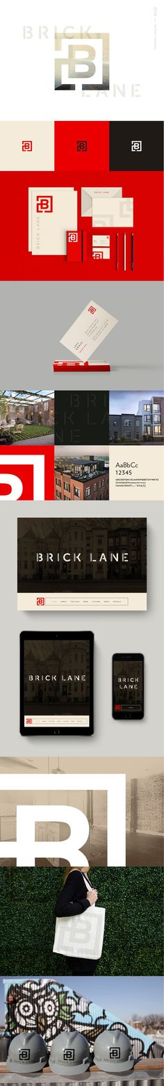 Brick Lane branding design by Rebecca Finn. Brick Lane is a real estate services company based in Washington D. Web Design Agency, Brand Identity Design, Corporate Design, Corporate Identity, Branding Design, Design Packaging, Design Services, Menu Design, Label Design
