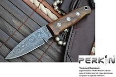 Damascus Hunting Knife With Sharpener and Sheath Beautiful Bushcraft Knife *** Click image to review more details.Note:It is affiliate link to Amazon.