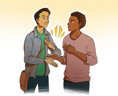The Troy and Abed handshake (artist unknown)