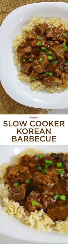 Slow Cooker Korean Barbecue for them who are busy and usually pressed for time. Low and slow cooking really seals the flavor, while the meat becomes flavorful and tender over time.