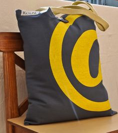 #@ design trendy tote #Cotton Canvas #handmade in #Nepal from #Kolpa;  17.5 inch x 15 inch with comfortable sized heavy duty cotton strap