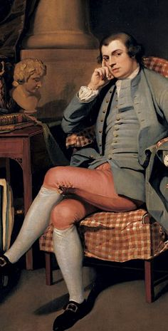 Armchair Selfie! John Hamilton Mortimer ARA (1740–1779), c.1760, British figure and landscape painter and printmaker, known for romantic paintings set in Italy, works depicting conversations,and works drawn in the 1770s portraying war scenes, similar to those of Salvator Rosa. Mortimer became President of the Society of Artists in 1774, five years before his death, at age 39.