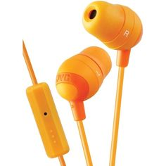 JVC HAFR37D Marshmallow(R) Inner-Ear Earbuds with Microphone & Remote (Orange)