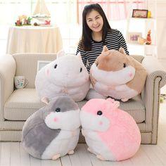 16.80$ Buy here - http://alijiz.shopchina.info/go.php?t=32793859158 - 45cm 55cm Lovely Plush Hamster Toys Cute Stuffed Guinea Pig Toys Pink Gery Children's Day Gift Kids Doll Girls' Gift #bestbuy