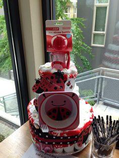 diaper cake ladybug