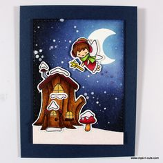 "The ""frosty fairy friends"" stamp by Lawn Fawn is a…"