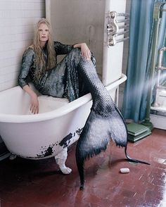 Fancy a swim? See #Halloween inspiration from the W archives on wmag.com. Photo by #TimWalker styled by @KJeldgaard1. via W MAGAZINE OFFICIAL INSTAGRAM - Celebrity Fashion Haute Couture Advertising Culture Beauty Editorial Photography Magazine Covers Supermodels Runway Models