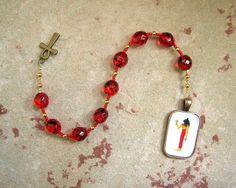 Bast (Bastet) Pocket Prayer Beads: Egyptian Goddess of Joy, Love, Music and Dance by HearthfireHandworks on Etsy