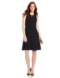 Anne Klein Women's Petite Sleeveless V Neck A-Line Suit Dress with Waist Detail, Onyx, 4 Anne Klein http://www.amazon.com/dp/B00E59MO56/ref=cm_sw_r_pi_dp_vcy8vb156BBDY