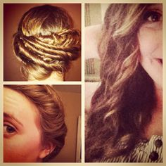NO HEAT CURLS.  Step1:Get an elastic headband. Step2:Put the head band on hippy style. Step3:Twist pieces of damp hair and tuck it into the headband then repeat it until all of your hair is twisted up.(: Its super easy to do!