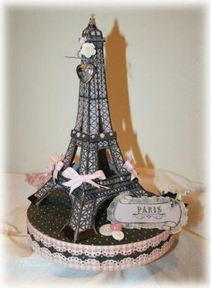 Eiffel Tower by Paris Cake Design. Parisian Cake, Cake Paris, Parisian Party, Parisian Wedding, Paris Sweet 16, Eiffel Tower Cake, Eiffel Tower Centerpiece, Paris Themed Birthday Party, Birthday Party Themes