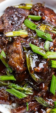 Mongolian Beef (PF Chang's copycat) - easy to make and better than the real thing!