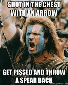 William Wallace wasn't the one who did that in the movie. It was Hamish's dad that did, but still...