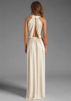 Long cream evening dresses