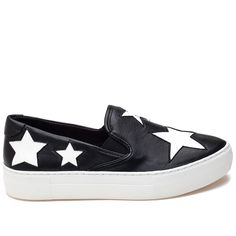 AMERICA Black and White Leather Sneaker
