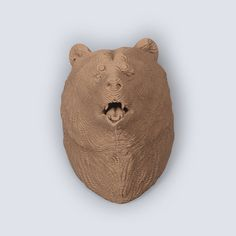 Grizzly Bear Head Trophy DIY Cardboard Craft