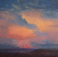 """A little more desert drama. 24 x 24 oil on 2"""" gallery wrapped canvas."""