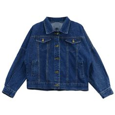 Chicnova Fashion Retro Style Classic Denim Jacket ($19) ❤ liked on Polyvore featuring outerwear, jackets, denim jacket, button up jacket, jean jacket, retro jackets and blue jean jacket