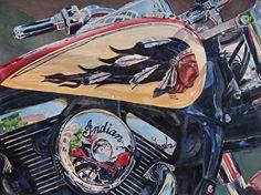Wind Warrior by Tammy Meeske Watercolor, framed ~ 22 x 28