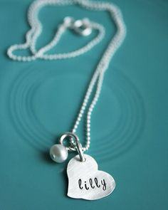 This is such a sweet, simple necklace.  I am in love with it and many more on this site!