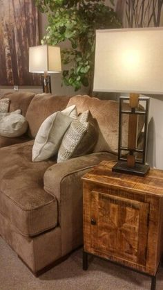 Most Inviting.Love The Rugged Table W Plush Fielding Sofa And Natural Wood  Accents Tray. Can Be Seen At Ashley Furniture Homestore Grape Rd Mishawaka.
