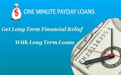 Are you facing financial hardship and struggling hard to get out of it. But you are unable to find option to get out of it. So in such terrible situation just apply for Long term cash loans which helps you to cover all your financial hardship with ease by availing you money just in single a minute of applying for it. Apply now!