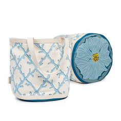 I pinned this Coral Lattice Bag in Blue from the ecoaccents event at Joss and Main!