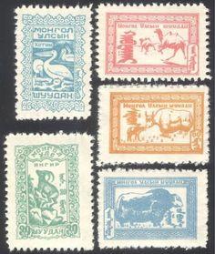 pelican/The Strangest Bird ~ Mongolia-1958-Pelicans-Ibex-Camel-Yak-Animals-Birds-Nature-5v-set-n24085