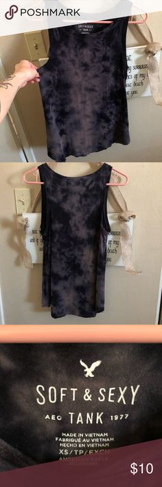 American Eagle Outfitters Soft & Sexy Tie Dye Tank Cute American Eagle Tie Dye tank. Super soft and comfortable! Loose fitting XS. American Eagle Outfitters Tops Tank Tops