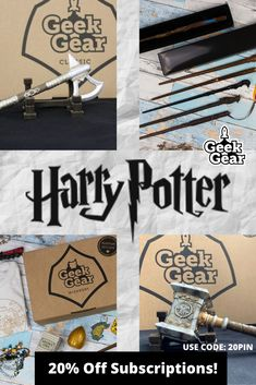 Geek Gear is a monthly mystery subscription box service bringing you the highest quality merchandise from the best brands from around the world! Harry Potter Puns, Harry Potter Theme, Harry Potter Universal, Harry Potter Hogwarts, Harry Potter Pictures, Harry Potter Wallpaper, Geek Gear, Christmas Gifts For Kids, Art Projects