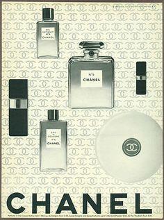 Print Ad Chanel Perfume 1966 Magazine Advertisement