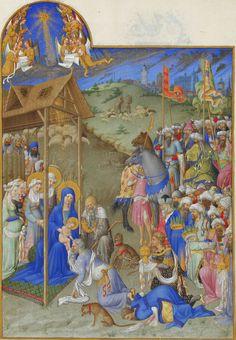 Musée Condé, Chantilly - Gebroeders van Limburg - Les Très Riches Heures du Duc de Berry - De aanbidding door de wijzen