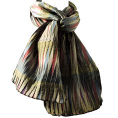 MARGO SELBY SCARF - This amazing scarf is woven using silk and lyrca, it is woven in such a way that it creates a 3 dimensional design and is one of our most popular scarves as they have a relaxed funky look for daytime, but equally successful for special occasions and evening wear.