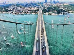 The bridge that connects Asia to Europe- Istanbul, Turkey