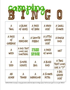 Fun and easy backyard campout idea from Kendra of My Insanity. Download a BINGO camping printable for this cute summer activity.