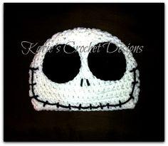 JACK SKELLINGTON Nightmare Before Christmas Crochet Hat Beanie. $16.99, via Etsy.