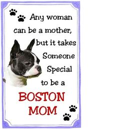 Boston Terrier Mom Refrigerator Magnet in Collectibles Boston Terriers, Boston Terrier Love, Terrier Breeds, Terrier Puppies, Bulldog Puppies, Dachshund, Puppy Love, Dog Lovers, Dog Cat